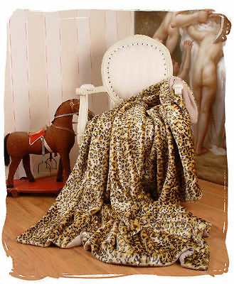 Bedspread Leopard Coupling Blanket Artificial Fur Leo Ceiling Blanket