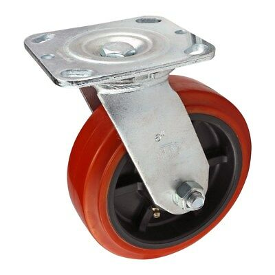 """80//20 Inc 10 15 Series 4/"""" Rubber Flanged Mount Swivel Caster Part #2314 N"""