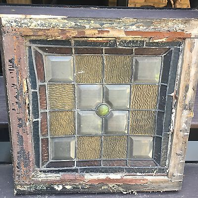1880 Antique Stain Glass Exterior Window
