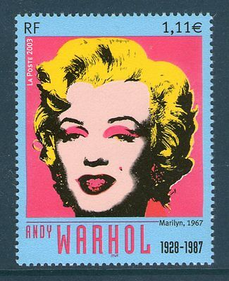 Timbre 3628 Neuf Xx Luxe - Andy Warhol - Serigraphie De Marilyn Monroe