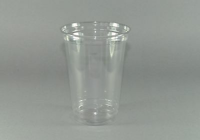 896 Clear Cups 400ml (16oz) PET Plastikbecher Becher, Trinkbecher, Smoothie