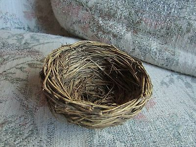 """Decorative Fake Twig Nest, approx 3 3/4"""" across and 2"""" tall"""