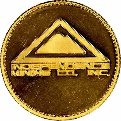 Independence Mining Co. Inc. March 1990 1 oz Fine Gold Commemorative Round