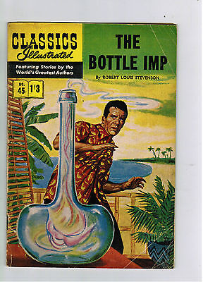CLASSICS ILLUSTRATED COMIC No. 45 The Bottle Imp 1/3 HRN 129