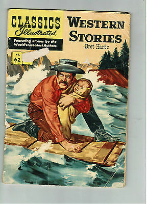 CLASSICS ILLUSTRATED COMIC No. 62 Western Stories 1/3 HRN 134