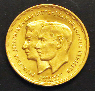 """1953 Luxembourg 20-Francs Gold Coin. """"BU"""" -  X#: M1 Prev. KM#: M1"""