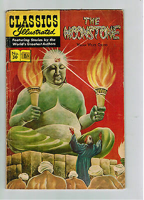 CLASSICS ILLUSTRATED COMIC No. 30 The Moonstone - 15c  HRN 167