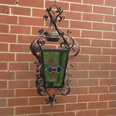 Vintage Wrought Iron Lantern 1920's