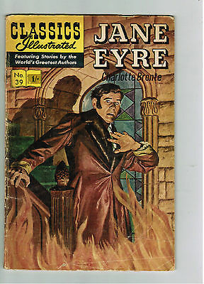 CLASSICS ILLUSTRATED COMIC No. 39 Jane Eyre - 15c  HRN 167