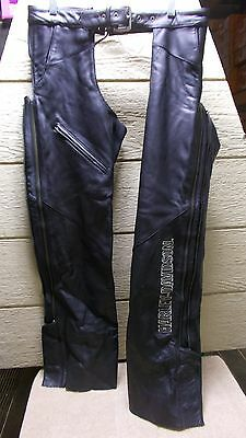 Harley-Davidson DELUXE Lined Leather Embroidered Chaps 98097-06VW WOMENS sz M