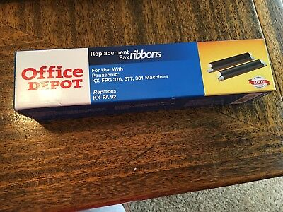 Office Depot Replacement Fax Ribbons Replaces KX-FA92 NEW