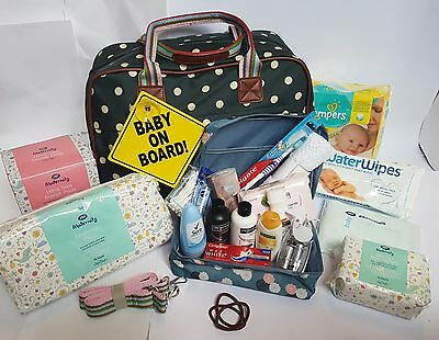 Pre Packed Maternity Hospital Overnight Bag filled with 22 Products
