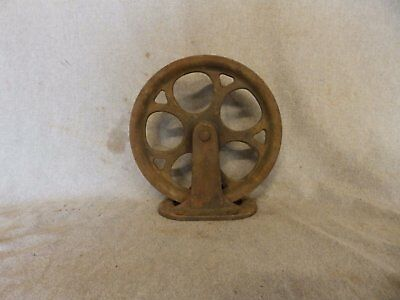 Antique Industrial Theater Stage Curtain Cast Iron Pulley Steampunk Vtg 433-17P