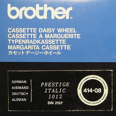 Brother Typenradkassette Cassette Daisy Wheel Deutsch Prestige Italic 1012