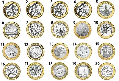 £2 Rare Two Pound Coins 1986-2018 Northern Ireland,olympic, Raf, Circ, Bunc