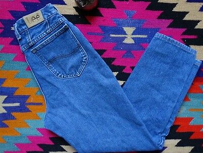 VTG WMNS 80s Made in USA LEE Jeans Mom High Waist Medium Wash 8M 28 x 28 ACT 4 6
