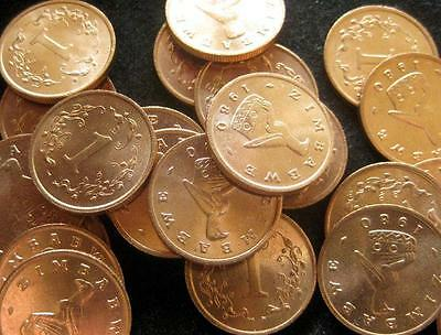 Zimbabwe Cent 1980 Red CH UNC lot of 25 BU coins Rhodesia