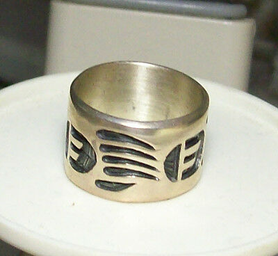 1990s Roy Rogers Sterling Silver Ceremonial Claw Ring-Mint w/Display Card+Pouch!