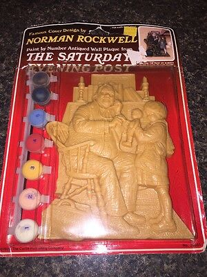 Norman Rockwell Paint By Number Wall Plaque Saturday Evening Post Doctor & Doll