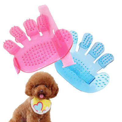 2 Pcs Cat Dog Massage Pet Bath Hair Fur Glove Brush Nouveau