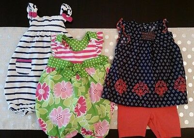 HUGE LOT Baby Girl Clothes 3 months to 6 months - 33 pieces + 11 bonus items
