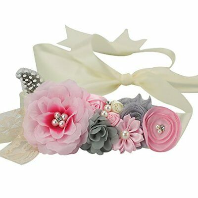 Lovemyangel Bridal Sash Belt Bride Maternity Satin Flower Ribbon Baby Girls for