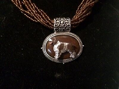 English Springer Spaniel  necklace~dog ~CLEARANCE Sale~Liver
