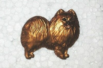 Pomeranian Dog Resin  Handpainted Pin~Awesome detail! Pomerainian