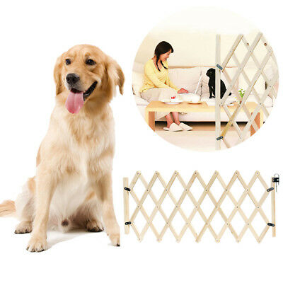 1x Baby Safety Fence Child Protector Wooden Door Dogs Pets Barrier Gate Panel UK