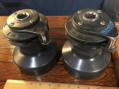 Pair Of Lightly Used Lewmar 30 Self Tailing 2 Speed Winches (Wavegrip Model)