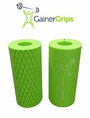 Gainer Grips - Arm Muscle Builder - Thick Bar, Fat Barbell & Dumbbell Hand Grip