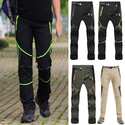 Men Outdoor Hiking Camping Quick Dry Pants Breathable Waterproof Stretch Trouser