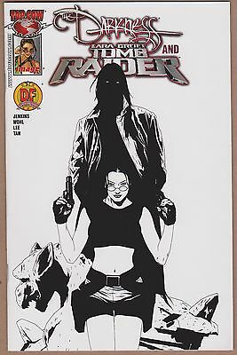 Darkness and Tomb Raider #1 Dynamic Forces (DF) Black & White Cover (2005)