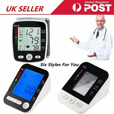Digital Arm Blood Pressure Monitor Heart Beat Meter Portable Home Health Care UK