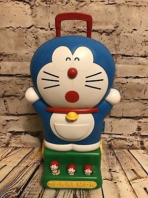 Doraemon Toy Carrier.  Toy Luggage.  Produced by Lotte.  Rare & HTF