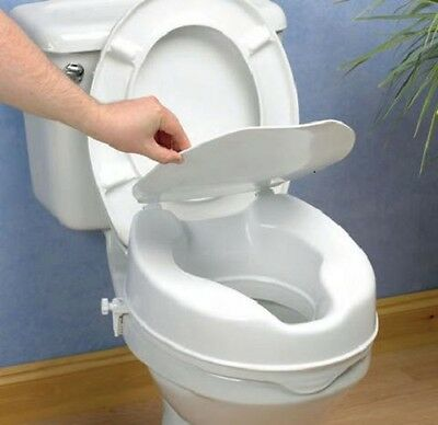 Raised Toilet Seat With Lid - 5cm: FREE EAST COAST DELIVERY