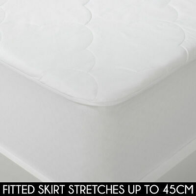 Natural Cotton Filled + Cotton Cover Mattress Protector All Size Fully Fitted