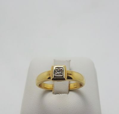18ct YELLOW GOLD SOLITARE DIAMOND RING VALUED @ $1537 COMES WITH AUST. VALUATION