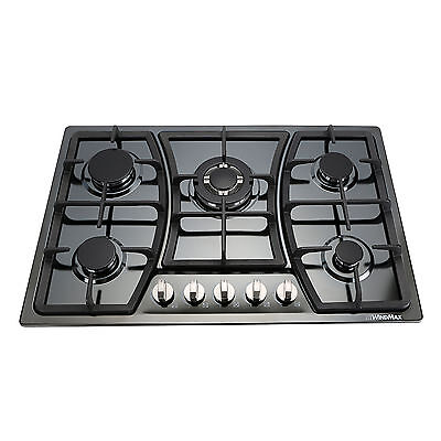 Windmax High Efficiency 5 Burners Gas Stove Cooktop Stainless Steel Hot Plate