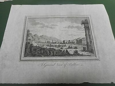 100% Original Balbec Syria Prospect Map By Kitchin/bowen  C1780 Vgc Low Postage