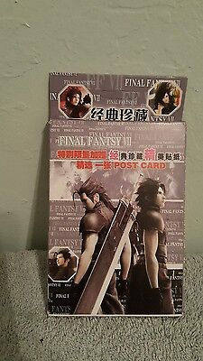Final Fantasy VII Post Card Stickers(in japanese)