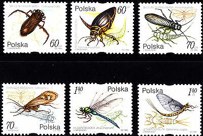 Poland 1999 Water Insects Complete Set of Stamps, MNH
