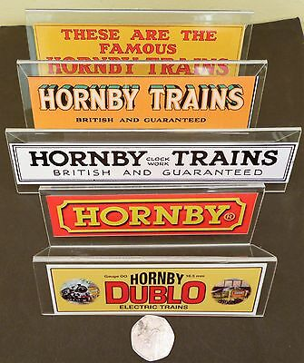Hornby Trains & Dublo Perspex Display Signs X 6 Great For Your Display Cabinet