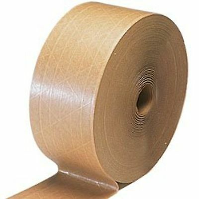 "2 Rolls     3"" x 600'   Central Water Activated Sealing Paper Packaging Tape"