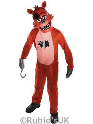 Kids Five Nights At Freddy's Foxy New Fancy Dress Child Boys Halloween Costume