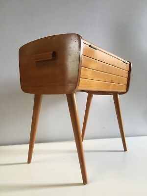 Vintage Mid Century Danish Style Sewing Box