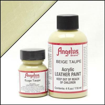Angelus Acrylic Leather Paint Beige Taupe 4oz Colour for Shoes/Sneakers/Case/Car