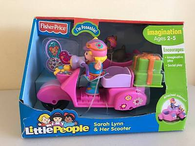 Fisher Price Little People Sarah Lynn and her Scooter NRFB 2007 NEW Ages 2-5
