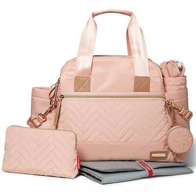 New Skip Hop Blush Satchel Baby Maternity Nappy Changing Bag & Accessories