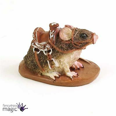 Fiddlehead Mog Magical Garden Mouse Saddle Figurine Miniature Fairy Home Gift